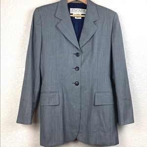 Escada long line grey button down blazer jacket